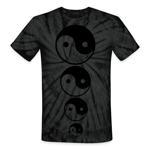Gray Ying Yang - Unisex Tie Dye T-Shirt