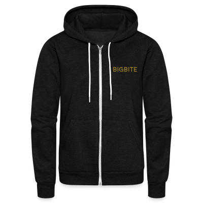 The BIGBITE Gold Collection Zip Hoodie - Unisex Fleece Zip Hoodie by American Apparel