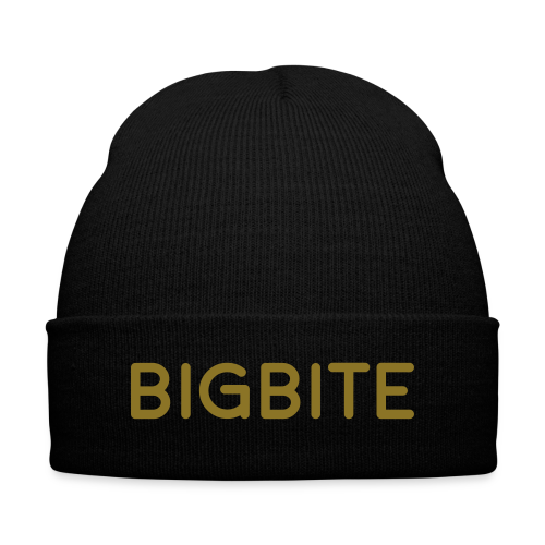 The BIGBITE Gold Collection Beanie  - Knit Cap with Cuff Print