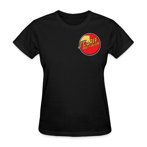 ISB women's skater tee in black - Women's T-Shirt