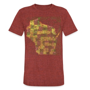 Wisconsin 1895 - Unisex Tri-Blend T-Shirt by American Apparel