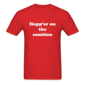 Hopp'er on the combine - Men's T-Shirt