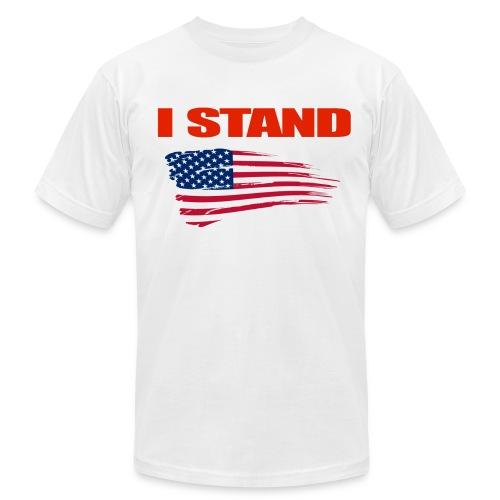 Mens White I Stand T-Shirt - Men's Fine Jersey T-Shirt