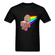 T-Shirts ~ Men's T-Shirt ~ Nyan Pig - Mens T-Shirt