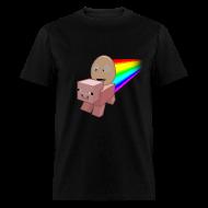 T-Shirts ~ Men's T-Shirt ~ Nyan Pig - Mens T-Shirt