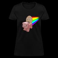 Women's T-Shirts ~ Women's T-Shirt ~ Nyan Pig - Ladies T-Shirt