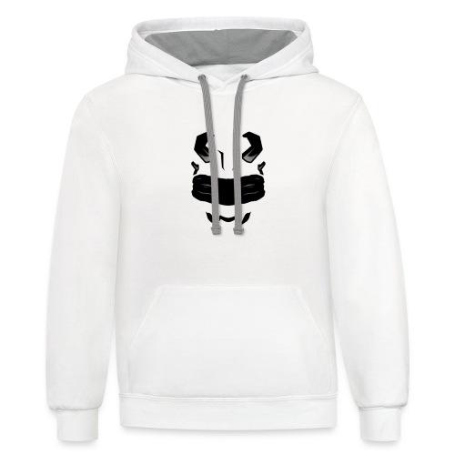 TiD Bijon White Hoodie - Contrast Hoodie