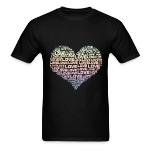 One Heart Big Love - Men's T-Shirt