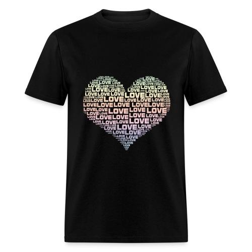 One Heart Big Love - Men's T-Shirt