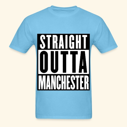 straight outta manchester  - Men's T-Shirt