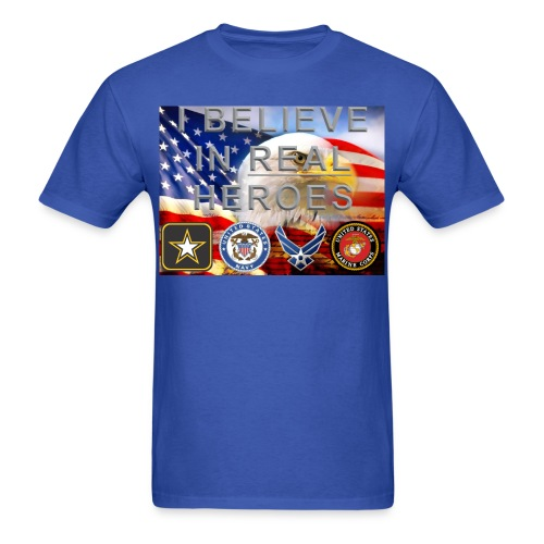 Real Heroes Military - Men's T-Shirt