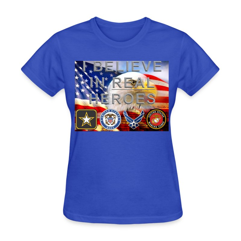 Real Heroes Mil F - Women's T-Shirt