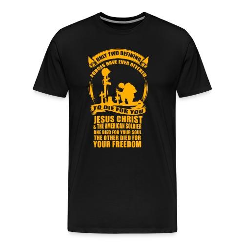 Jesus and Soldiers - Men's Premium T-Shirt