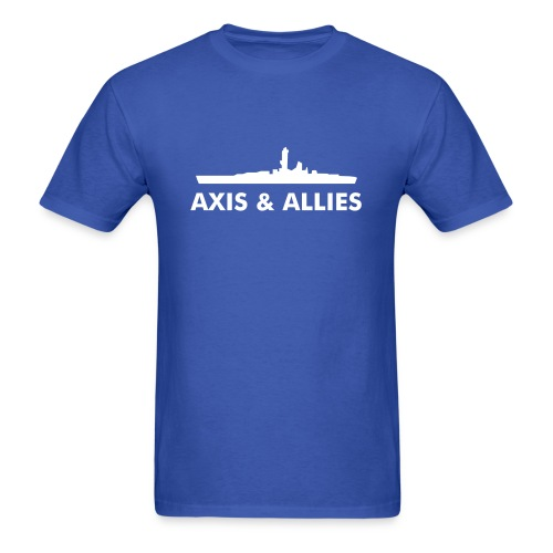 Axis & Allies Battleship T-Shirt (Futura font) - Men's T-Shirt
