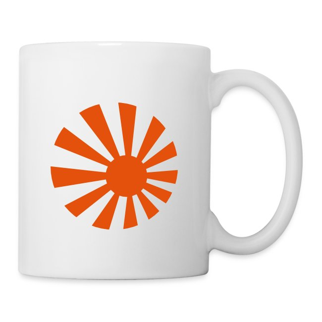 Japanese logo & text coffee mug.
