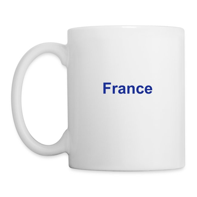 France Coffee Mug, reverse Text.