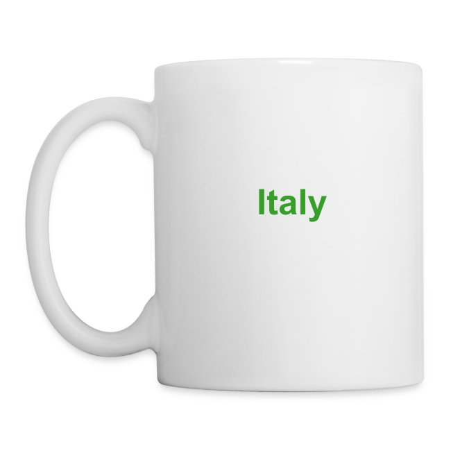 Italy Coffee Mug with Text reverse