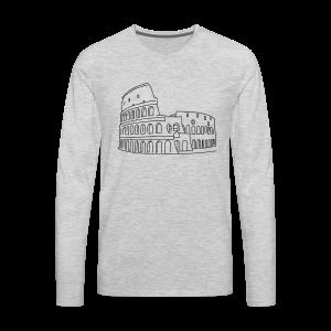 Colosseum in Rome - Men's Premium Long Sleeve T-Shirt