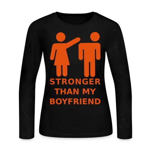 Stronger Girlfriend - Women's Long Sleeve Jersey T-Shirt