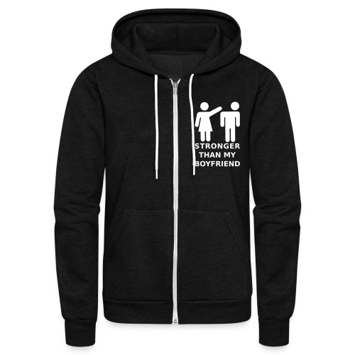 Stronger Girlfriend - Unisex Fleece Zip Hoodie