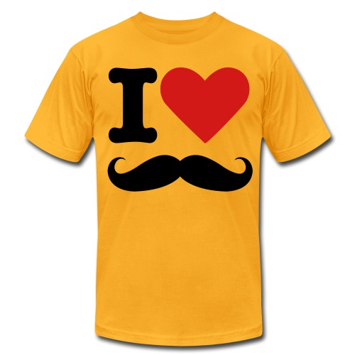 I Love Stache - Men's Fine Jersey T-Shirt