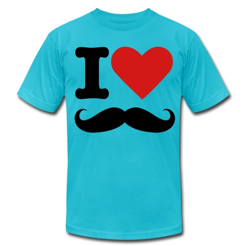 I Love Stache - Men's Fine Jersey T-Shirt