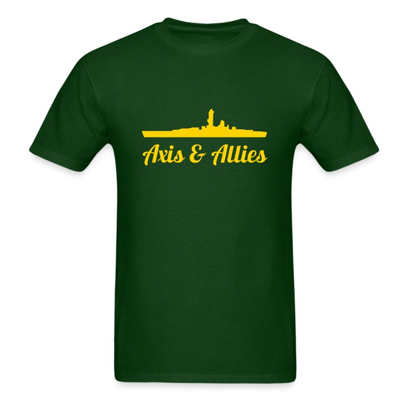 Axis & Allies Battleship T-Shirt with Stylized Text - Men's T-Shirt