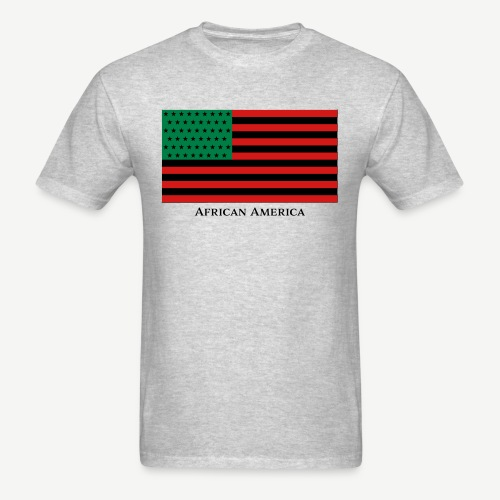 African America (Red, Black, and Green Flag) - Men's T-Shirt