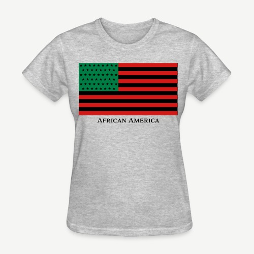 African America Flag (Red, Black, and Green) - Women's T-Shirt