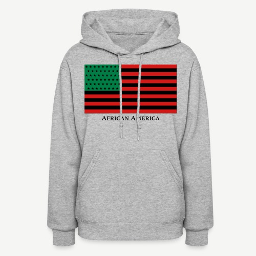 African America Flag (Red, Black, and Green) - Women's Hoodie