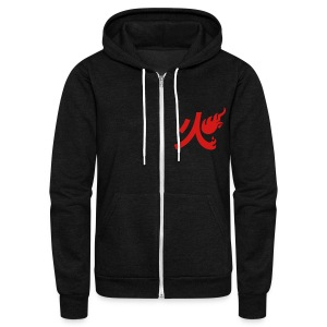 Flame Style Mage Jacket - Unisex Fleece Zip Hoodie by American Apparel