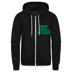 Hurricane Style Mage Jacket - Unisex Fleece Zip Hoodie by American Apparel