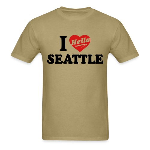 I Hella Seattle - Men's T-Shirt