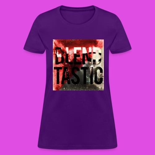 Women's Blendtastic grey/red Galaxy t-shirt - Women's T-Shirt