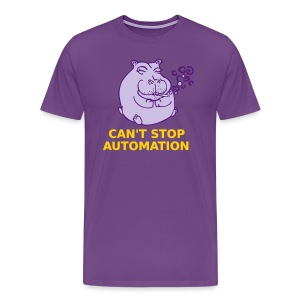 Can't Stop Automation Stoner Hippo - Men's Premium T-Shirt