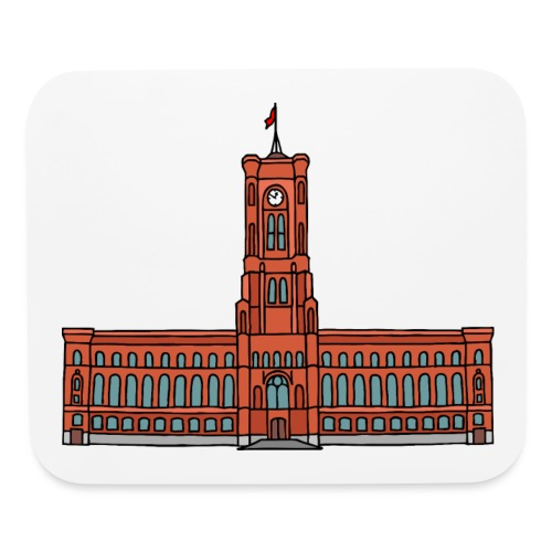 Red City Hall Berlin - Mouse pad Horizontal