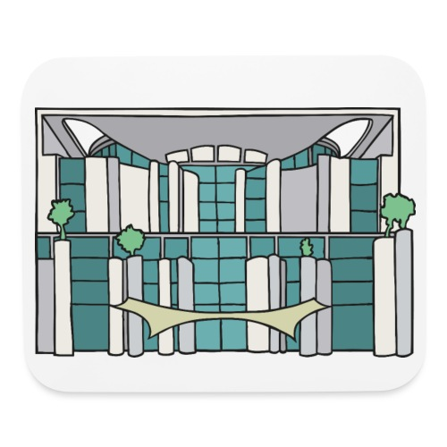 Chancellery in Berlin - Mouse pad Horizontal