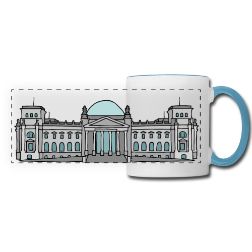 Reichstag building in Berlin - Panoramic Mug