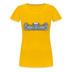 Reichstag building in Berlin - Women's Premium T-Shirt