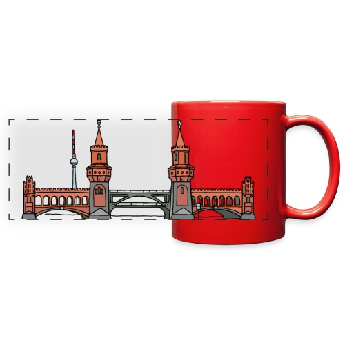 Oberbaum Bridge in Berlin - Full Color Panoramic Mug