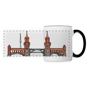 Oberbaum Bridge in Berlin - Panoramic Mug