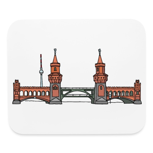 Oberbaum Bridge in Berlin - Mouse pad Horizontal