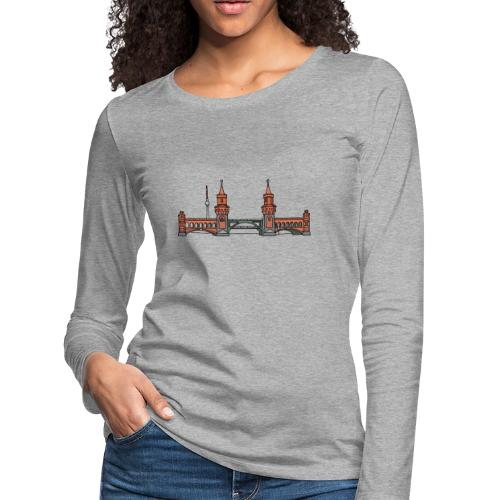 Oberbaum Bridge in Berlin - Women's Premium Long Sleeve T-Shirt