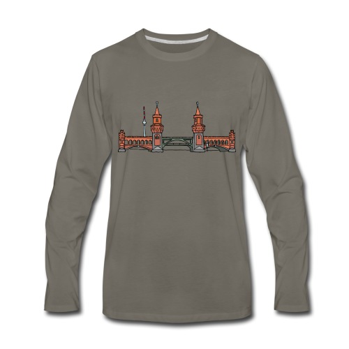 Oberbaum Bridge in Berlin - Men's Premium Long Sleeve T-Shirt