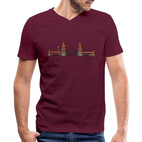 Oberbaum Bridge in Berlin - Men's V-Neck T-Shirt by Canvas