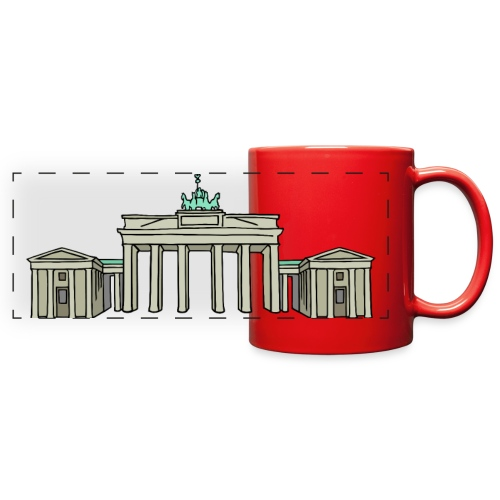 Brandenburg Gate in Berlin - Full Color Panoramic Mug