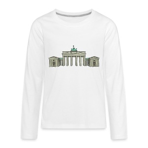 Brandenburg Gate in Berlin - Kids' Premium Long Sleeve T-Shirt