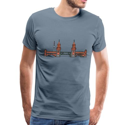 Oberbaum Bridge in Berlin - Men's Premium T-Shirt