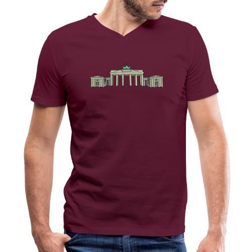 Brandenburg Gate in Berlin - Men's V-Neck T-Shirt by Canvas