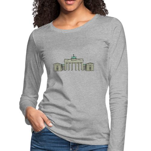 Brandenburg Gate in Berlin - Women's Premium Long Sleeve T-Shirt
